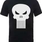 Marvel The Punisher Skull Logo Mens Black T Shirt
