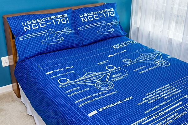 Star Trek TOS Schematic Duvet Cover and Pillow Cases