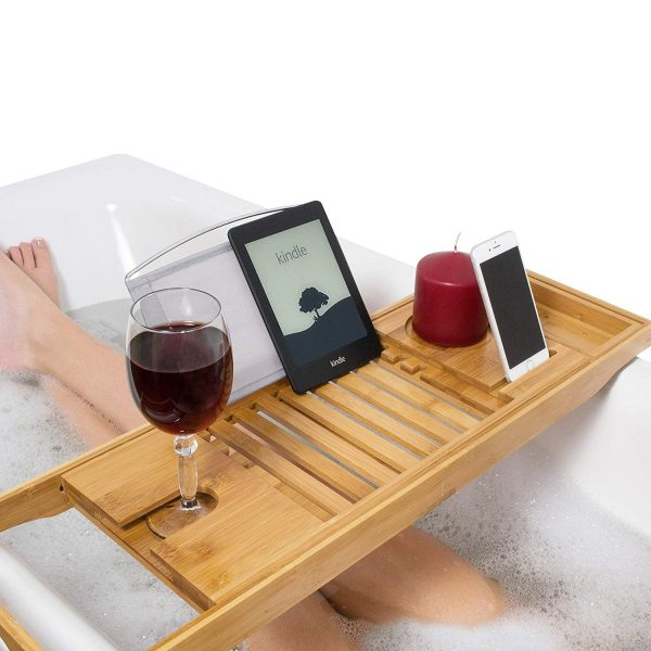 Natural Bamboo Bath Caddy Bridge