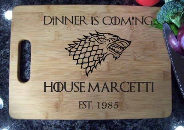Personalized Game of Thrones Cutting Board Dinner Is Coming