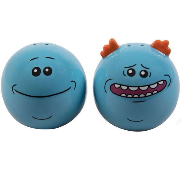 Rick and Morty Mr Meeseeks Ceramic Salt and Pepper Shaker Set