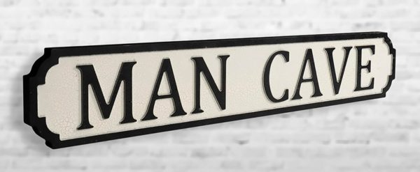 Shh Interiors Man Cave Vintage Street Sign